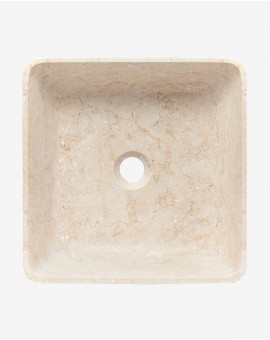 Washbasin, Square Stone beige