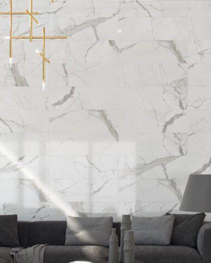 Faïence imitation marbre Cifre Statuario