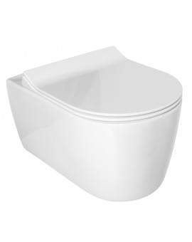 Toilet Alpha Glacera Suspended Rimless of 52cm