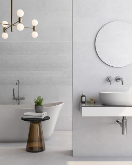 Faïence imitation Beton Loft 30x90 Rectifieé-American Tile