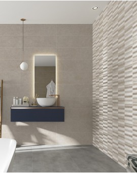 Tile imitation cement Freedom 30x90 rec Three Ceramics
