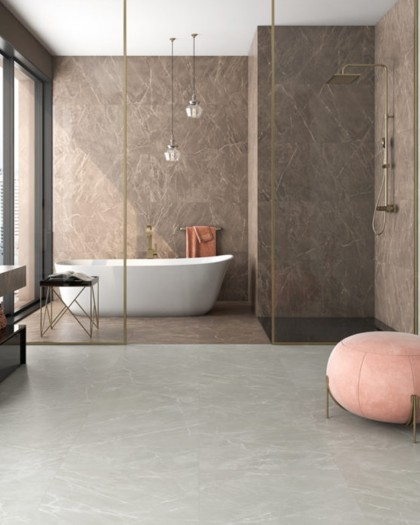 Porcelain tile polished appearance of marble Maximus American Tile