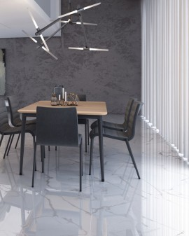Porcelain tile imitation marble Bianco Carrara Polished Encrypt
