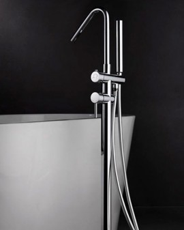 Mixer faucet foot tub Imex Corsica Chrome/matte Black