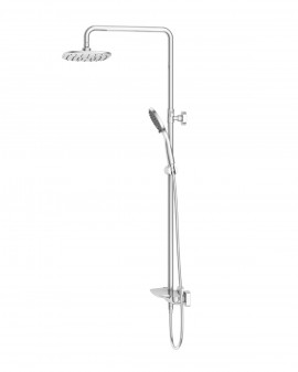 Column Bath-shower thermostatic Chrome Sidney with waterfall-Imex