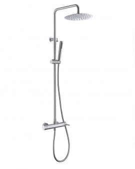 Columna de ducha monomando de acero Inox Moscú-Imex