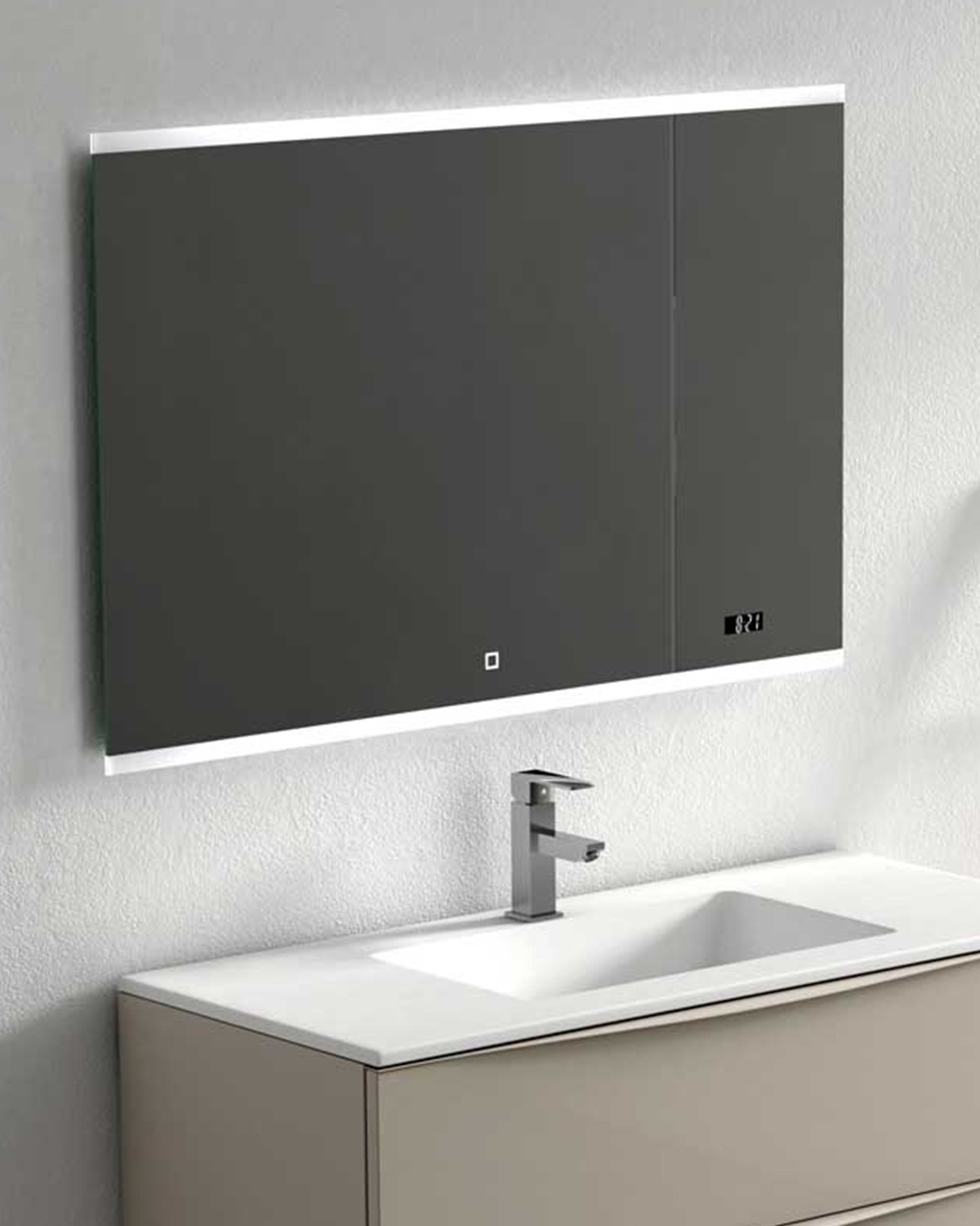 Bathroom Mirror Spoty 80 100x65 Cm Anti Fog Lights And Speakers