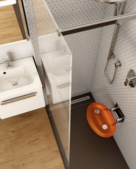 Asiento Baño/Ducha OVO P de Ravak / Orange / Opal / Clear