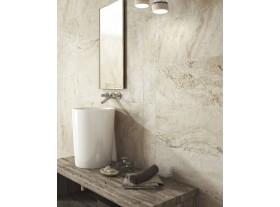 Porcelánico imitación mármol travertino natural Siena Beige