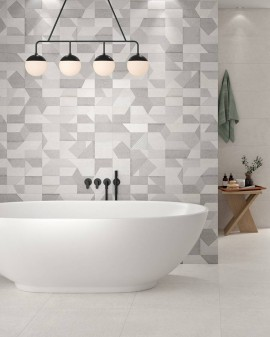 Backstage Colorker cement look bathroom tile