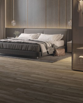 Anti-slip wood effect porcelain floor tiles Oslo 23x120 Cifre