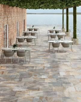 Porcelain tile look stone outdoor Pietra de serra 30,8x61,5 Tuscania