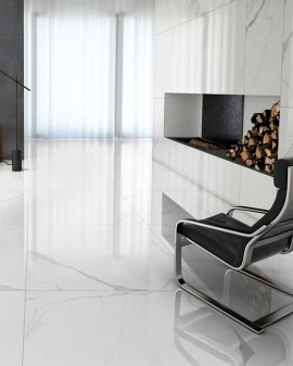 Porcelanato imitacióm mármol statuario White marble Tuscania