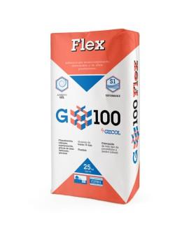 Adhesivo altamente deformable G100 flex Gecol C2TES1 saco 25kg