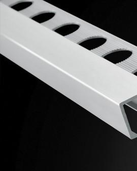Square aluminum profile, listelos and corners 2.60 m.l Plasdecor