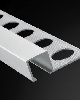 Profilé aluminium carré, listelos et coins 2,60 m.l Plasdecor