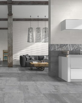 Reaction concrete effect bathroom tiles 25x75 Sanchis Home