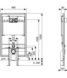 Kit cistern recessed Tece