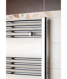 Towel rail chrome plated